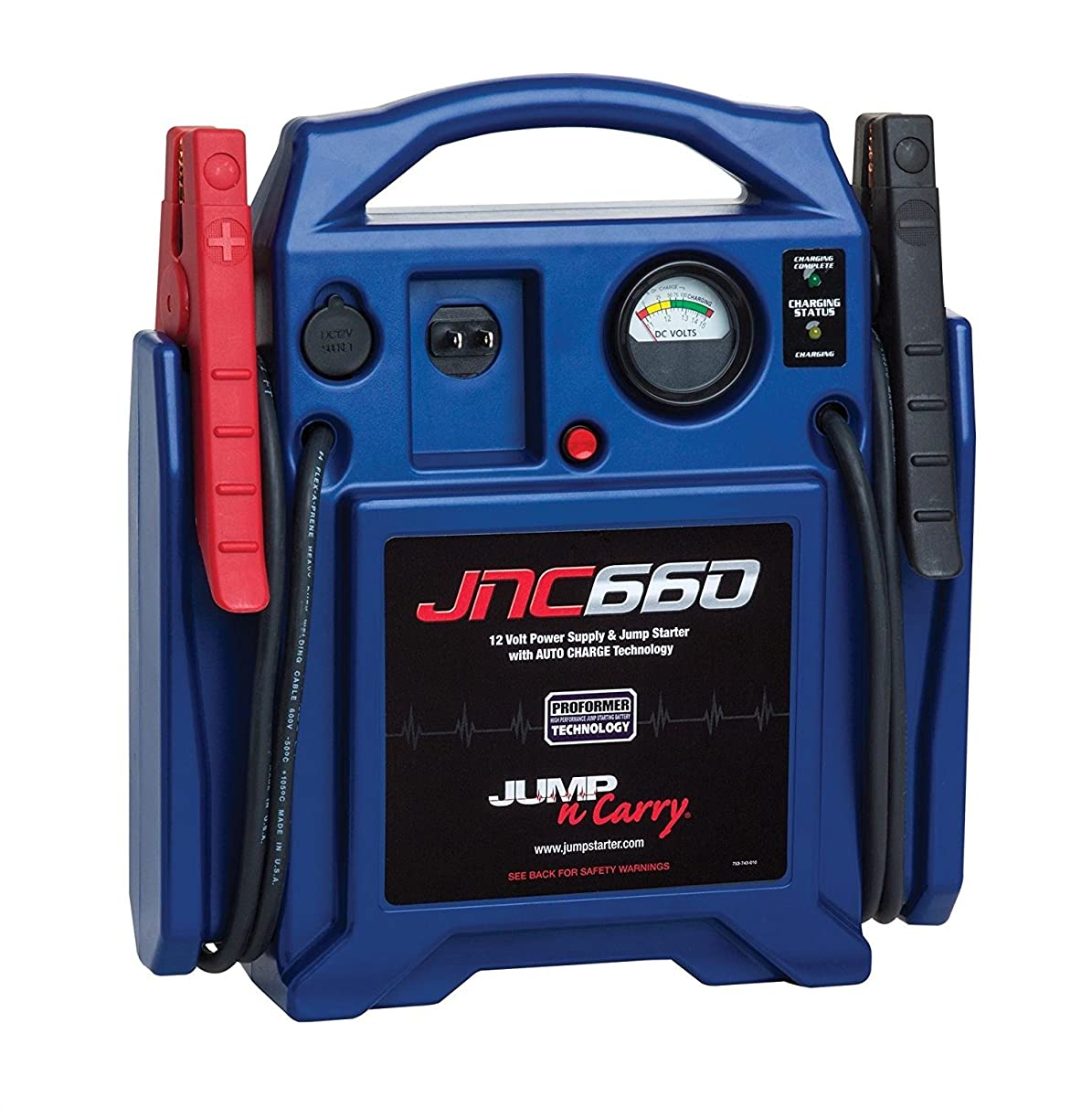 Clore Automotive Jump-N-Carry JNC660 1700 Peak Amp Jump Starter