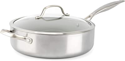 GreenPan Venice Pro Stainless Steel Healthy Ceramic Saute Pan - Best healthy Stainless Steel Saute Pan