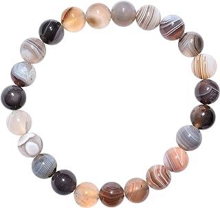 Zenergy Gems Charged Natural Gemstone Crystal 8mm Bead Bracelet + Selenite Charging Heart [Included]