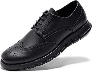 Dress Shoes Sneakers for Men-Stylish Wingtip Brogues Lace-up Sneaker Smart Casual