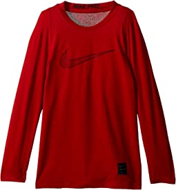 Nike Kids - Pro Fitted Long Sleeve Training Top (Little Kids/Big Kids)