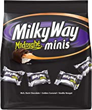 Milky Way Midnight Dark Chocolate Minis Size Candy Bars Bag, 8.9 Oz