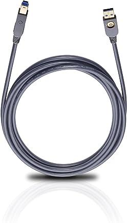 Oehlbach USB Max A to B USB 3.0 数据线 黑色 3 米