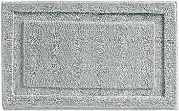 InterDesign Microfiber Spa Bathroom Accent Rug, 34 x 21, Gray