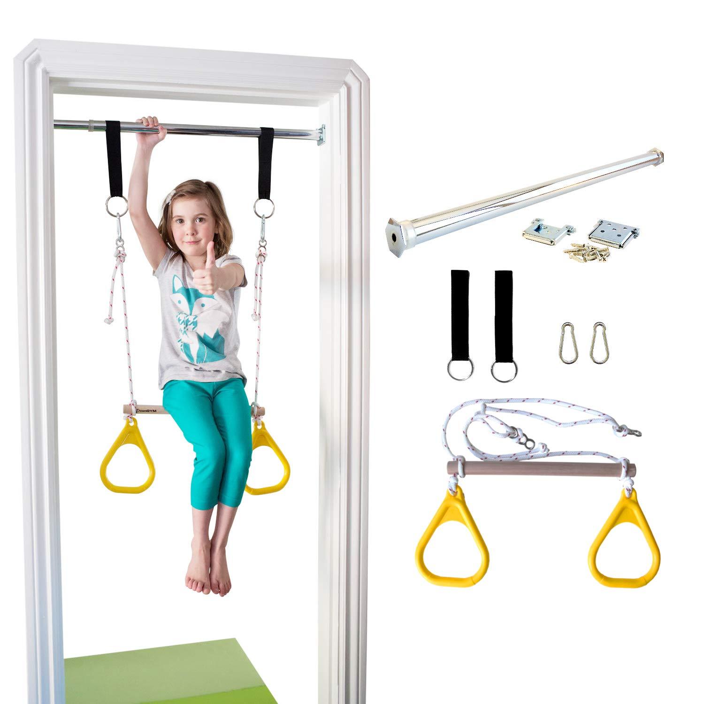 DreamGYM Doorway Gymnastics Trapeze Yellow