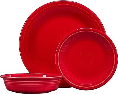 Fiesta 3-pc. Classic Dinnerware Set Scarlet
