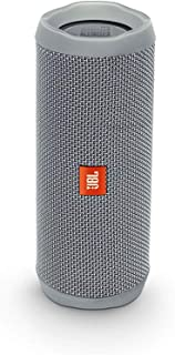 JBL Flip 4 Portable Wireless Speaker with Powerful Bass & Mic (Grey)