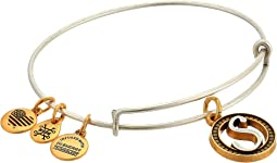 Alex and Ani Initial S Charm Bangle