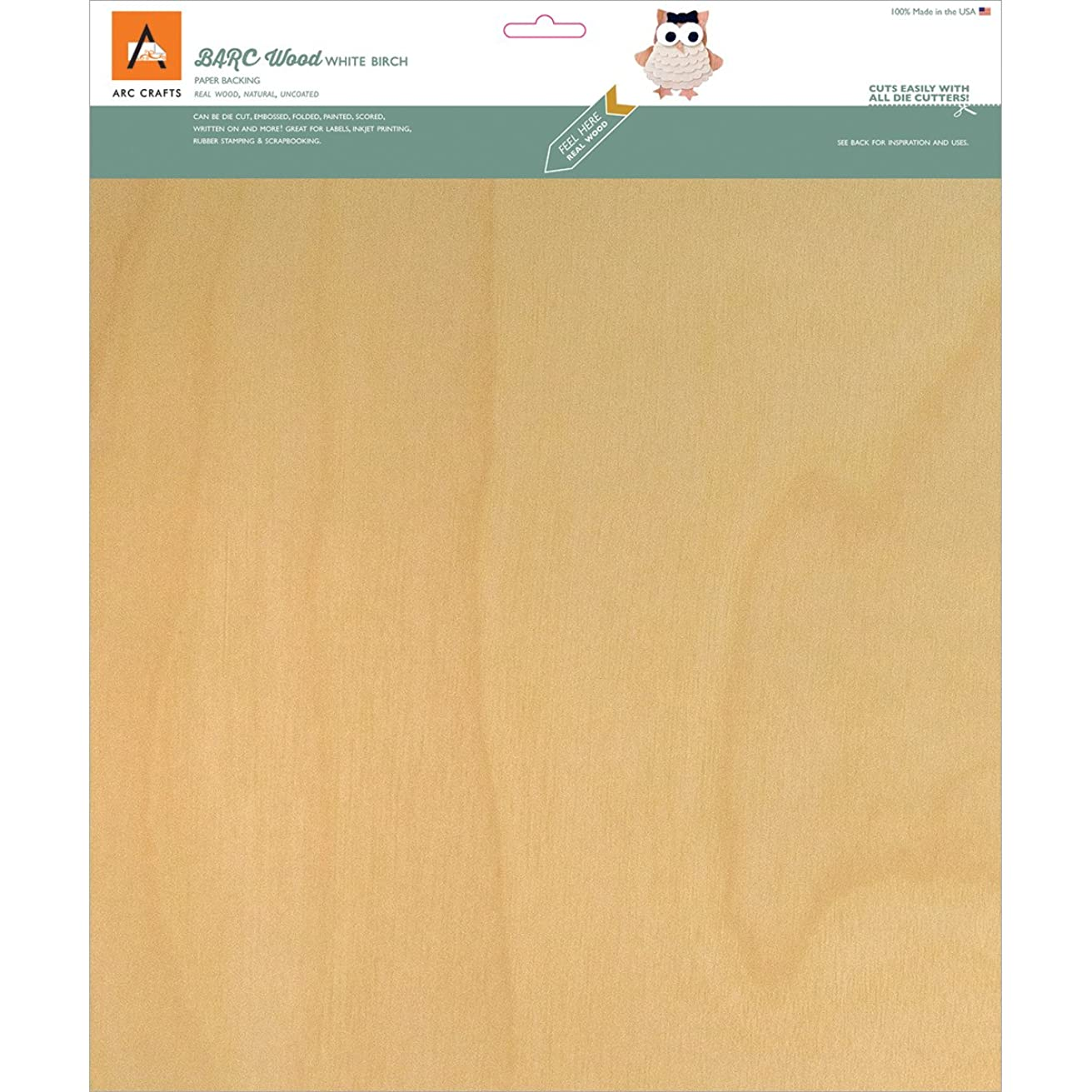 Barc Wood Sheet W/Paper Backing 12