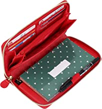 All-in-One Cash Envelopes Wallet with 12 Budget Envelopes & Budget Sheets - Red