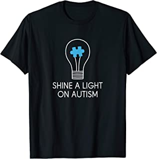 Shine A Light On Autism Shirt Autism Awareness Day