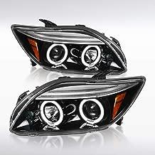 Autozensation For Scion tC Slick Black LED Dual Halo Bright Projector Headlights Pair