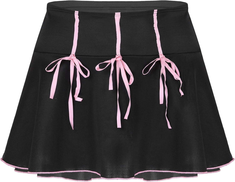 vastwit Women's Casual High Waist Short Skirts Harajuku Elastic Waistband Pleated Miniskirts