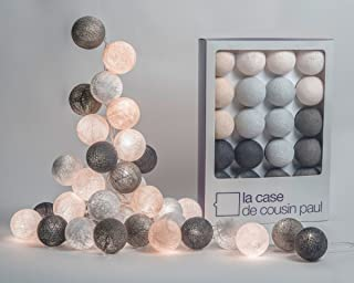 La Case de Cousin Paul Brooklyn 00706 - Guirnalda luminosa para habitación infantil (20 bolas)