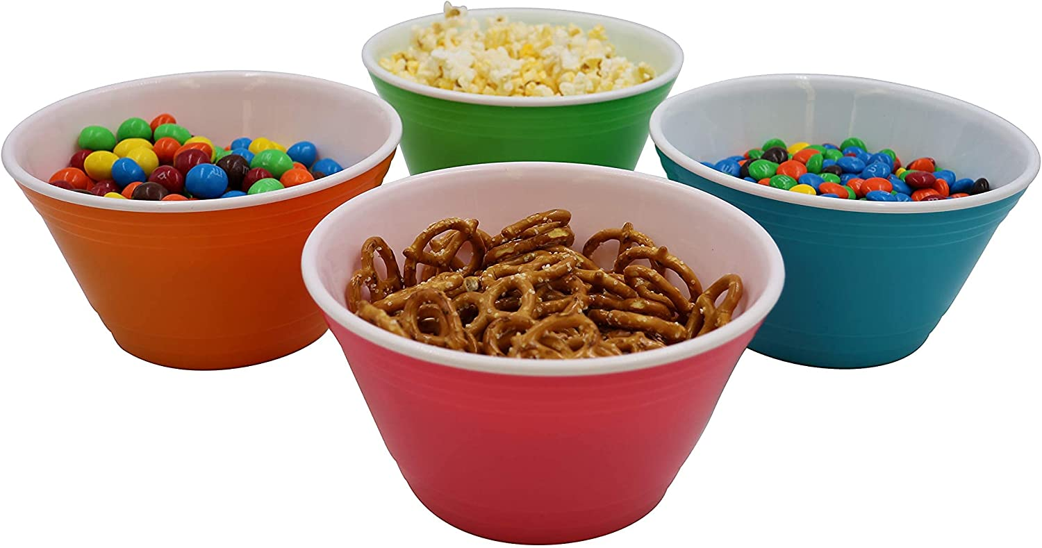 Chef Select Plastic ! Super beauty product restock quality top! Double Wall Bowls 4 28 OZ Choice Set of Reusable
