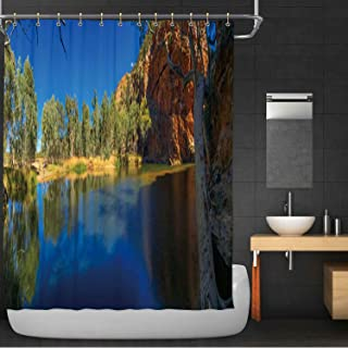 MOOCOM Ellery Creek Big Hole in The Northern Territory Australia 100% Polyester, Waterproof Shower Curtain,062250 for Beach,71 in x 79 in