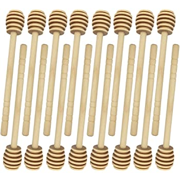 """50Pack 3/"""" 4/"""" 6/"""" Wooden Honey Spoon Dipper Wood Dippers Stirring Stick  US"""