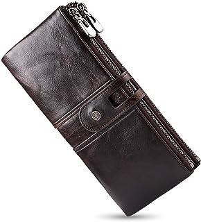 財布 メンズ 二つ折り 長財布 牛革 本革 カード22枚収納 小銭入れ ラウンドファスナー ウォレット 実力工場 日本皮革研究所の試験成績報告書取得 ギフト包装