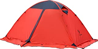 TRIWONDER 2 Person 4 Season Camping Backpacking Tent with Skirt Edge Double Doors Lightweight Waterproof Double Layer for Camping Hiking