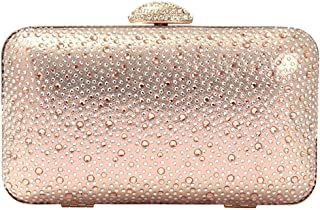 Bellissimo Womens Evening Clutch Bag Beaded Clasp