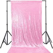 TRLYC 4Ft7Ft Blush Pink Sequin Photo Backdrop for Wedding and Party