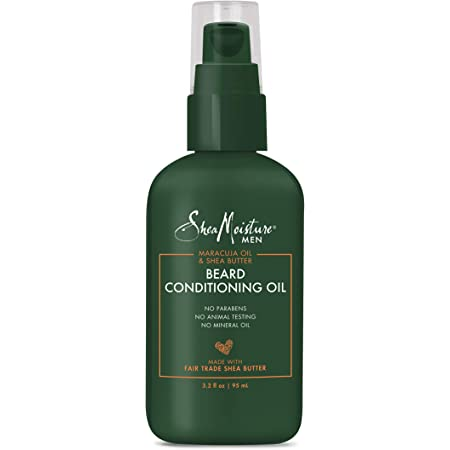 SheaMoisture Beard Conditioning Oil for a Full Beard Oil and to Moisturize and Soften Beards, Maracuja & Shea Butter, 3.2 Fl Oz