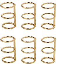 Monrocco 10 Pack Gold Color Metal Loose Leaf Binder Rings 3-Ring Binding Spines Combs Notebook Diary Photo Album Ring Clips