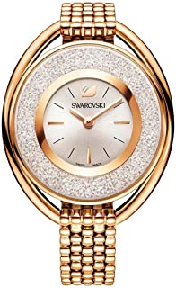 Ladies' Swarovski Crystal Crystalline Oval Rose Gold-Tone Bracelet Watch 5200341