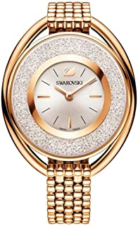 Ladies' Swarovski Crystal Crystalline Oval Rose Gold-Tone Bracelet Watch 5200341