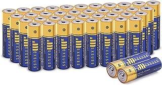 JMEXSUSS 40 Pack 2600mAh High-Capacity Alkaline AA Batteries (40 Count, AA, 2600mAh)