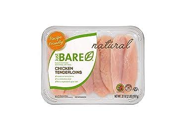 Just BARE All Natural Fresh Chicken, Family Pack of Hand-Trimmed, Boneless, Skinless Tenderloins, 2.