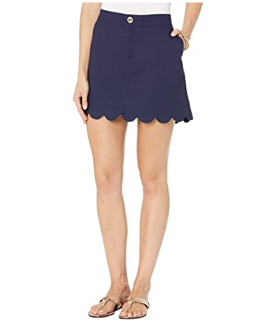 Lilly Pulitzer Colette Scallop Hem Skort (True Navy) Women