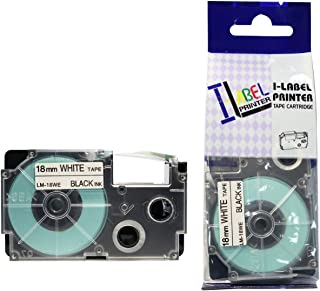 LM Tapes - Casio KL-7200 18mm Black on White Compatible Label Tape for Casio KL7200 EZ Label Printer