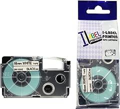 LM Tapes - Casio KL-7200 18mm Black on White Compatible Label Tape for Casio KL7200 EZ Label Printer