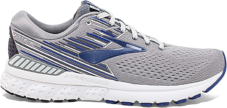 Brooks Men's Adrenaline GTS 19 4E Width Running shoes (BRK-110294 4E 4247540 7.5 (058) Grey bluee Ebon)