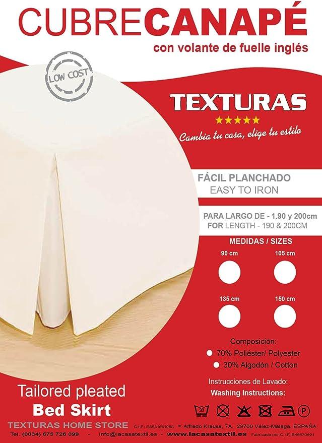 Basic Home by Texturas Cubrecanapé Loneta Fuelle Inglés Crudo (Varios tamaños Disponibles) (Cama 105)