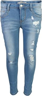 WallFlower Girl's Skinny Soft Stretch Jeans with Rips and Tears