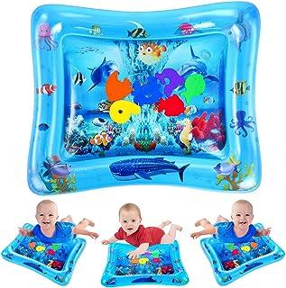 VATOS Tummy Time Water Mat ، اسباب بازی های بچه ای برای 3 6 9 ماه ، اسباب بازی مناسب زمان تومی برای مراکز فعالیت های اولیه رشد | BAT Free Splashing Water Play Mat باعث تحریک بصری می شود