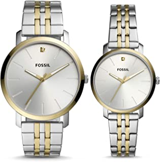 His and Her Lux Luther Three-Hand Two-Tone Stainless Steel Watch Gift Set BQ2467SET