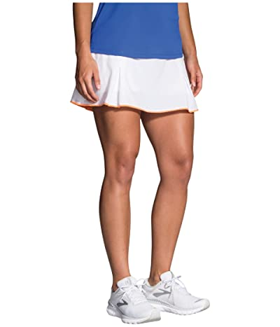 Brooks Chaser Skort (White/Nectar) Women