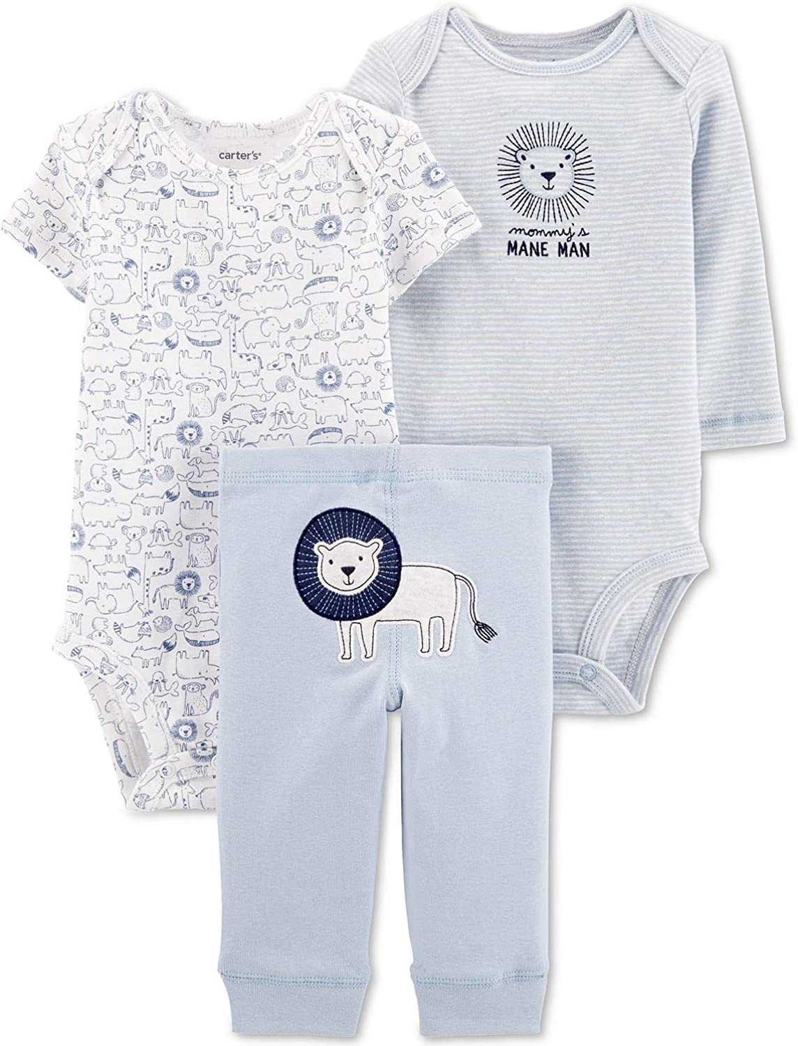 Carter's Baby Boys 3-Piece Lion Little Character Set Size 24 Months Blue White