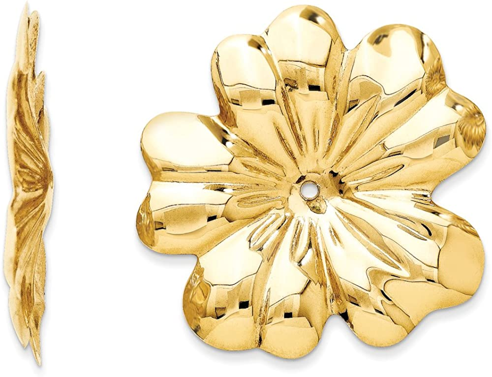Finejewelers 14k Yellow Gold Polished Floral Earring Jackets