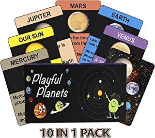 Playful Planets Classic Card Games for Kids Age– Educational Space Games for Kids Age 4-8 - Old Maid, Go Fish, Bingo, Memory with A Planetary Twist! 10 Games in 1 Fun Pack!