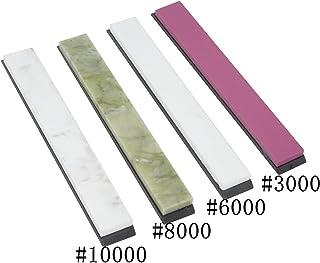 4/Set Whetstone afilador de piedra de afilar proops con base–5,7x 0,6x 0,2cm #3000#6000#8000#10000
