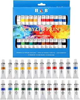 Mumoo Bear Acrylic Paint Set, 24-Piece Perfect for Canvas, Wood, Ceramic, Fabric. Non Toxic & Vibrant Colors. Rich Pigment...