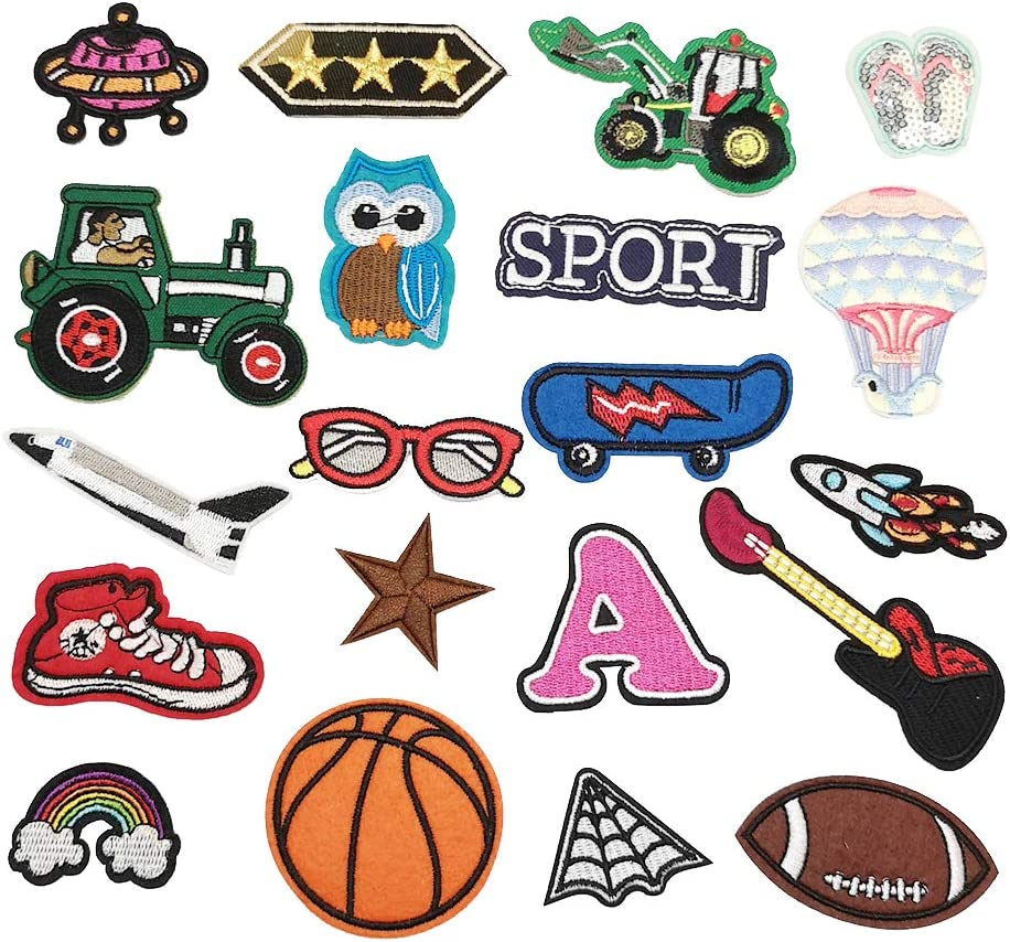 Niangzisewing Assorted of 20pcs for Boy D Patches on Iron New arrival sew Limited Special Price