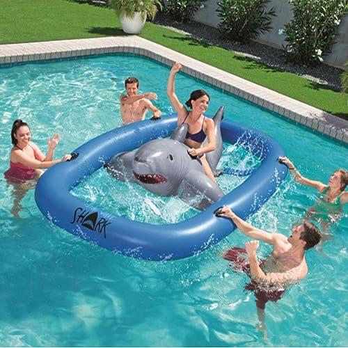 Aufblasbare Haifisch-Pool-sich Hin- Und Herbewegende Reihe, Wasser-Berg, Treibende Hin- Und Herbewegung, Verwendbar Für Sommer-im Freienstrandfest-Familien-Partei-Wasser-Unterhaltungs-Spielwaren