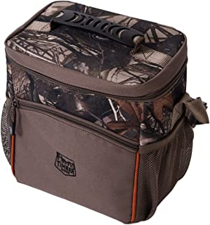 Timber Ridge Cooler 6 and 12 Can Insulated Leakproof Soft Camo Ice Bag for Camping Fishing Hunting Picnic Use, Small, Camouflage