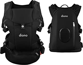 Diono Carus Complete 4-in-1 Child & Baby Carrying System with Detachable Backpack, Black