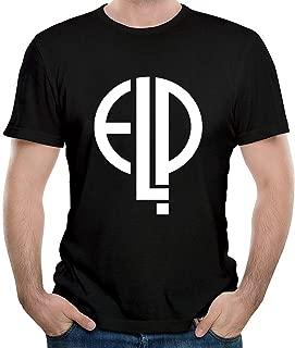 Hombre Emerson Lake and Palmer Logo Cotton Camiseta/T-Shirt tee